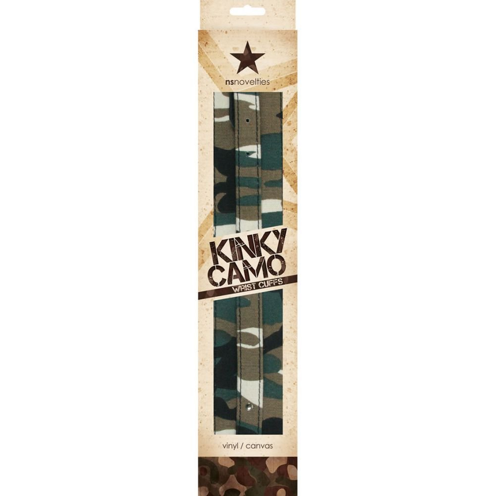 NS Novelties Kinky Camo Adjustable Wrist Cuffs - View #1