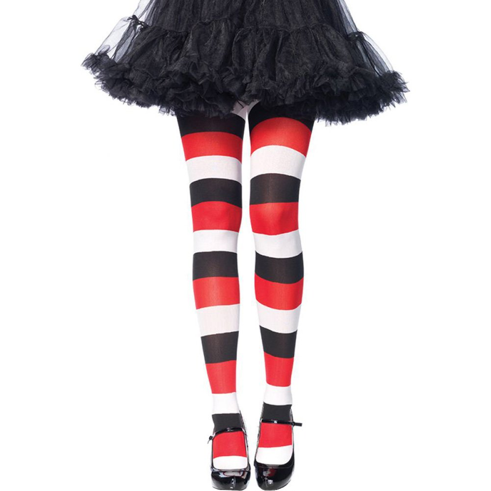 Leg Avenue Darling Doll Opaque Striped Tights One Size Multicolor - View #1