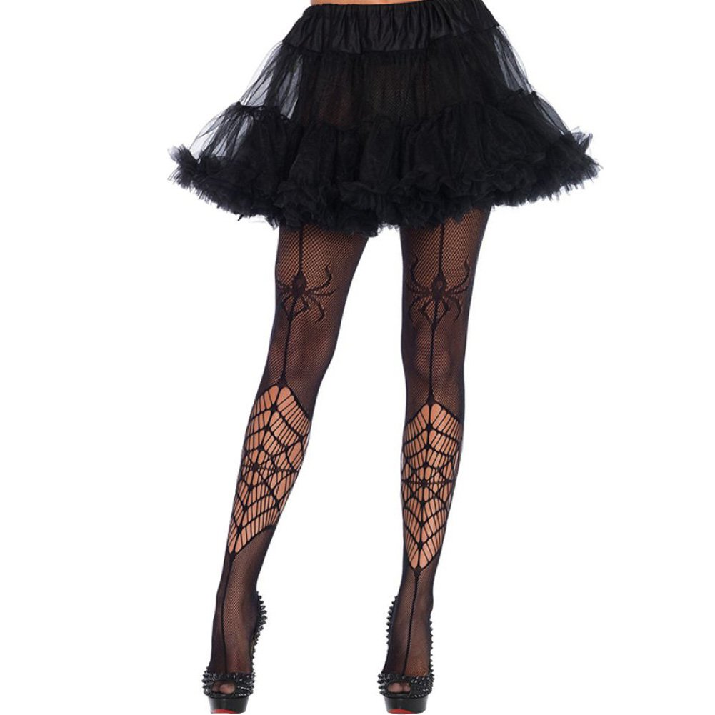 Leg Avenue Itsy Bitsy Spider Fishnet Pantyhose One Size Black - View #1