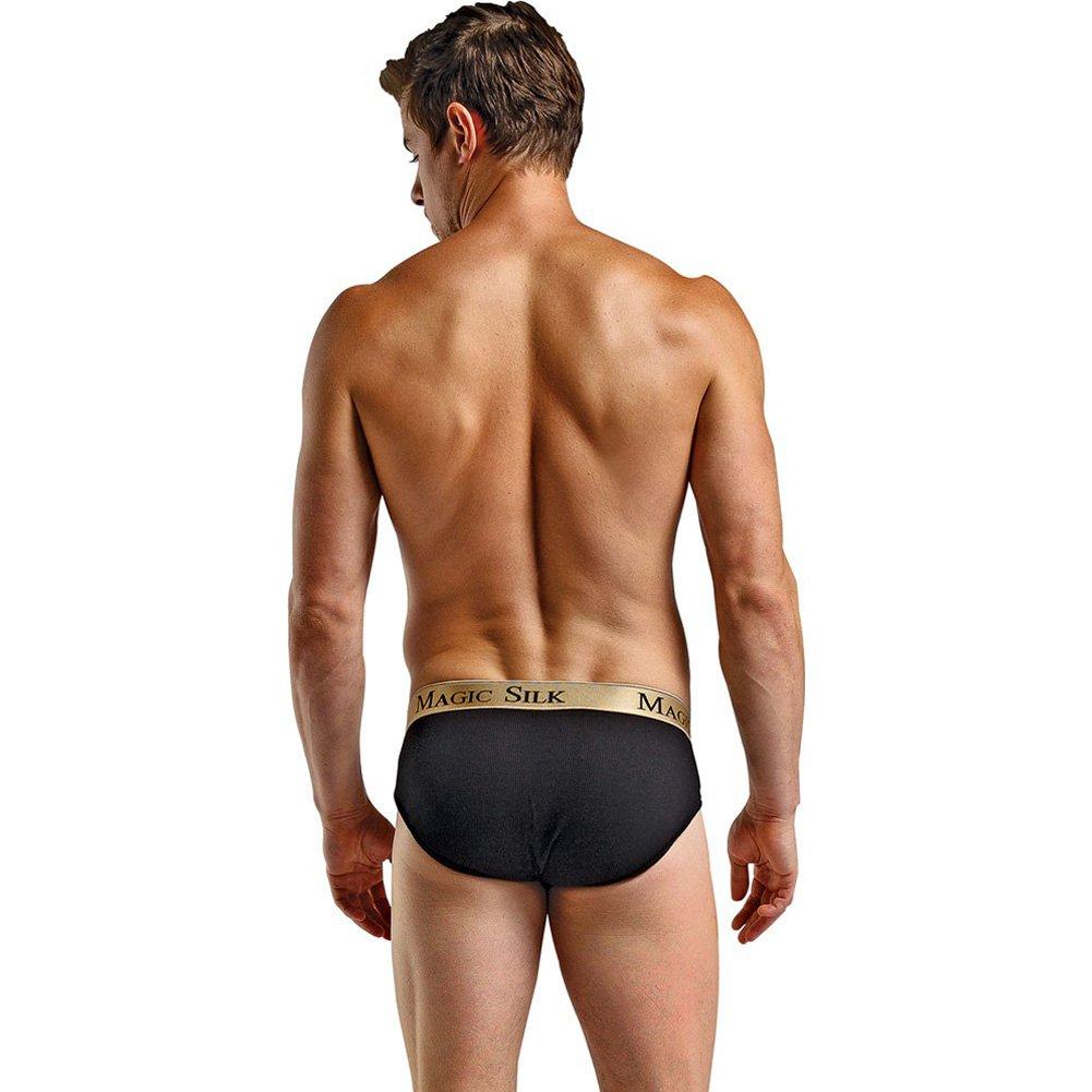 Magic Silk Lo Rise Bikini for Men Large Black/ Gold - View #4