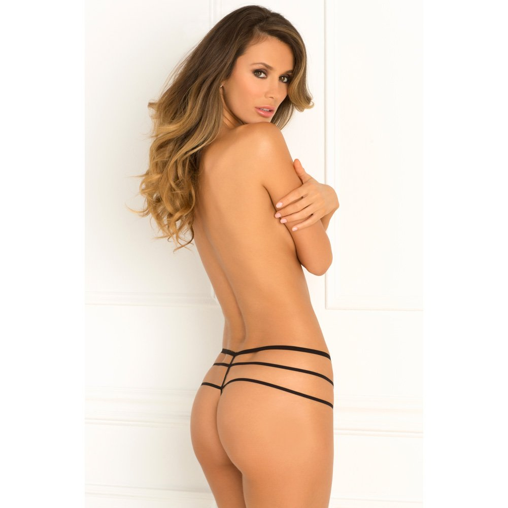 Rene Rofe Wanted and Wild Crotchless Panty Small/Medium Black - View #4