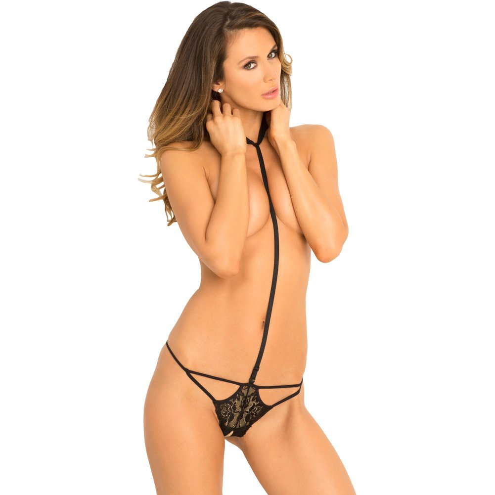 Rene Rofe Bedroom Ready Harness and Crotchless G-String Set Small/Medium Black - View #1