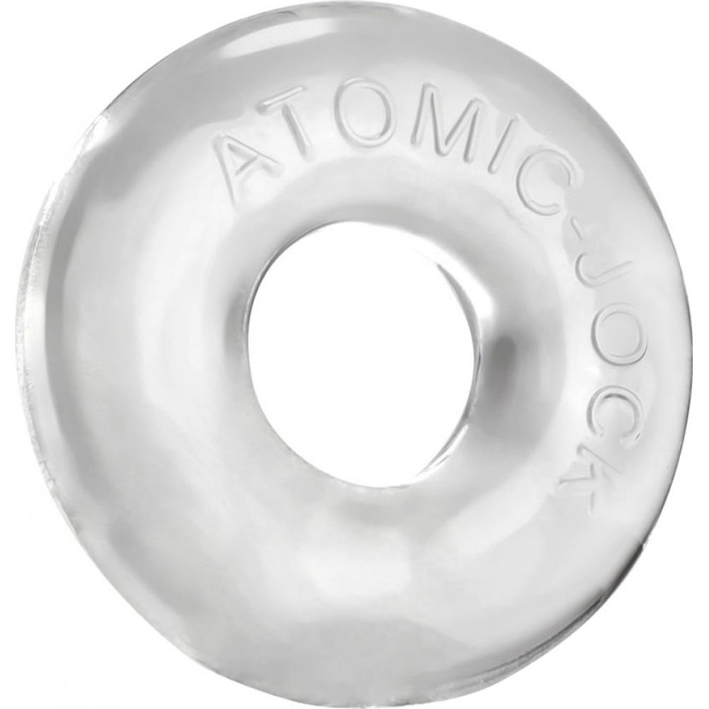 OxBalls Atomic Jock Donut 2 Large Cock Ring Clear - View #2