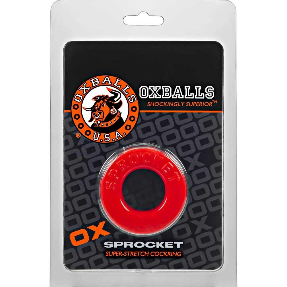 """OxBalls Atomic Jock Sprocket Cockring 2.8"""" Red - View #1"""