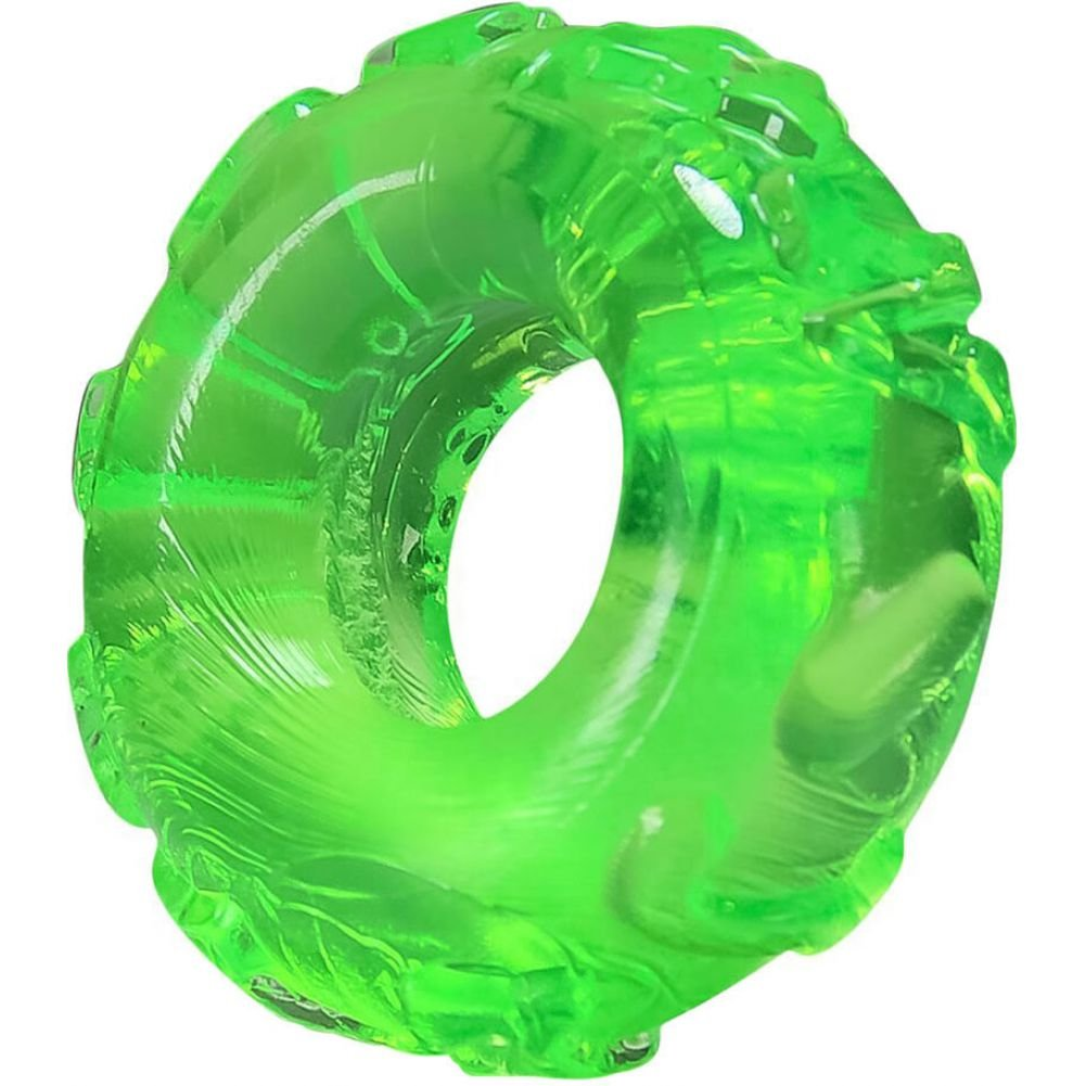 OxBalls Atomic Jock Jelly Bean Cockring Hornet Green - View #1