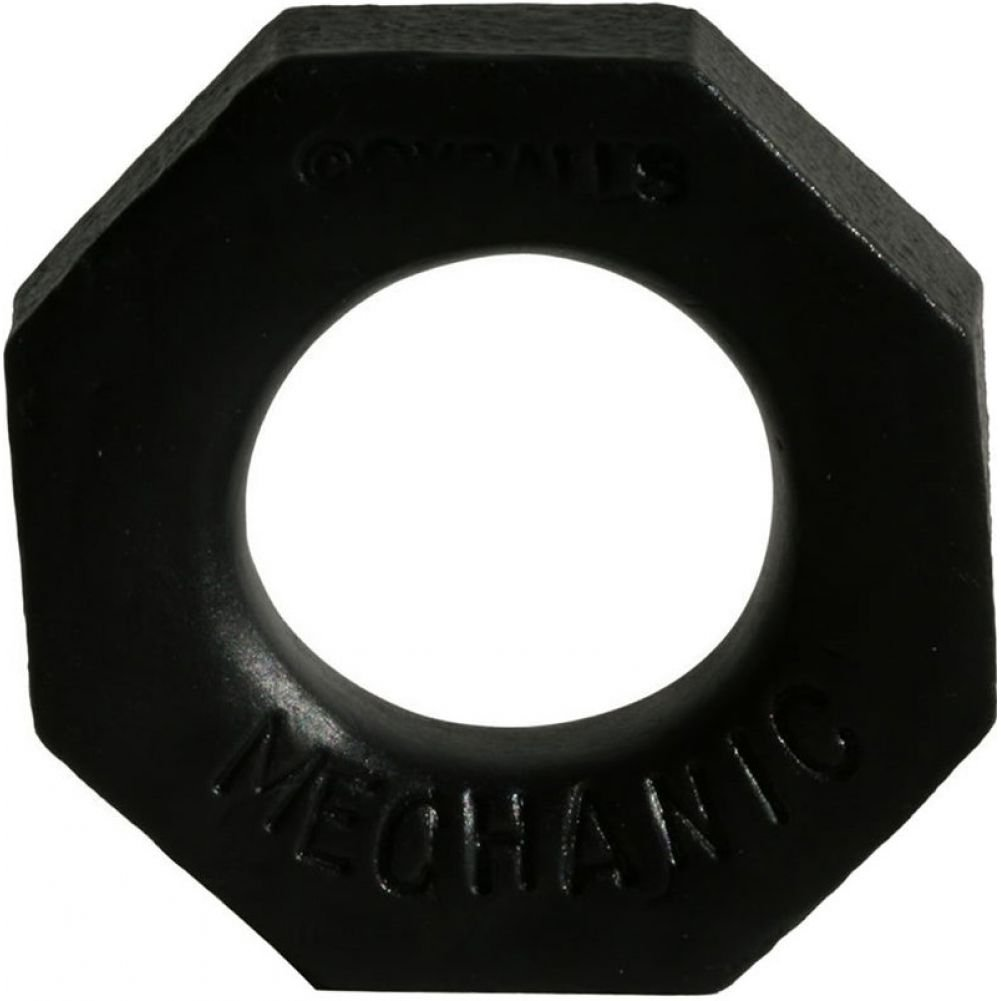 "OxBalls Mechanic Silicone Cockring 2.5"" Black - View #1"