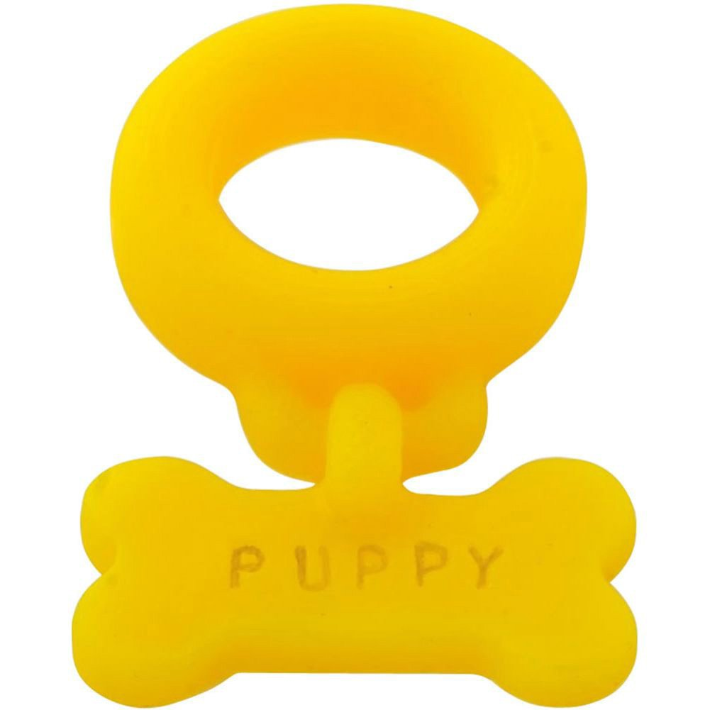 OxBalls Puppy Silicone Cockring Yellow - View #2