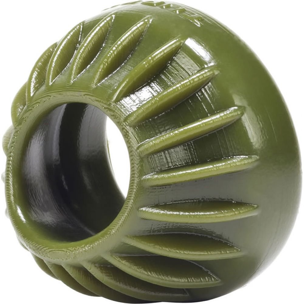 "Oxballs Turbine Silicone Cockring 1.75"" Army Green - View #1"