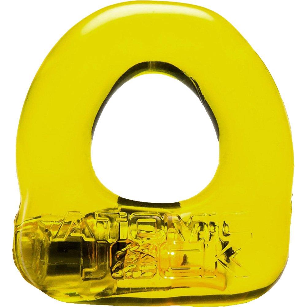OxBalls Atomic Jock Lumo Stretch Light Up Cockring Yellow - View #2