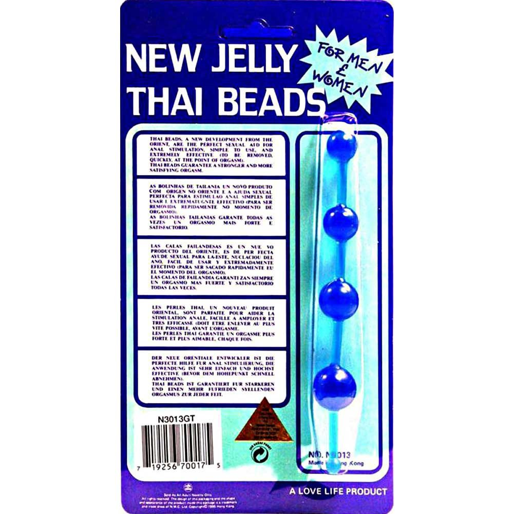 Golden Triangle New Jelly Thai Beads Blue - View #1
