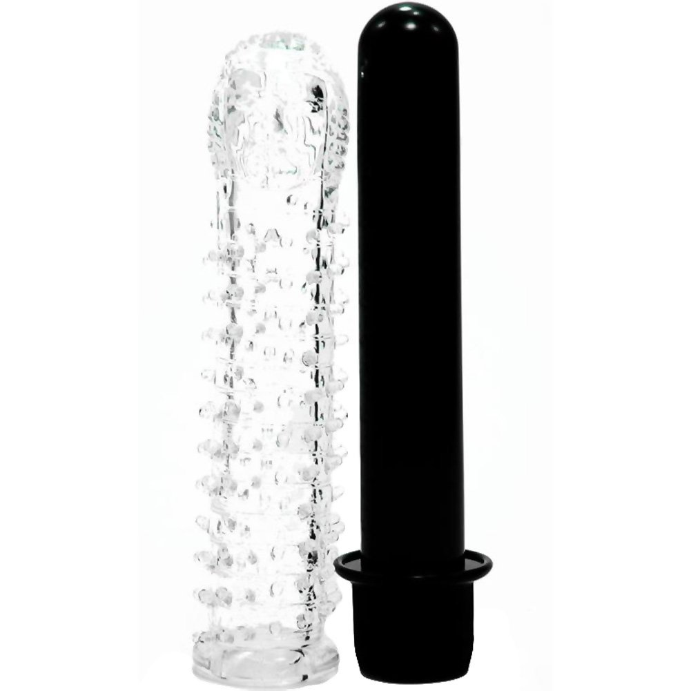 "Golden Triangle Mr Feelgood Vibrator W/Sleeve Kit 5"" Black - View #2"