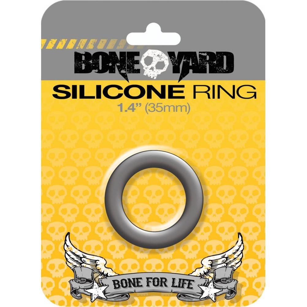 "Rascal Bone Yard Silicone Cockring Grey 1.4"" Diameter - View #1"