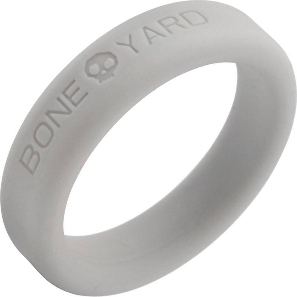 "Rascal Bone Yard Silicone Cockring Grey 1.6"" Diameter - View #2"
