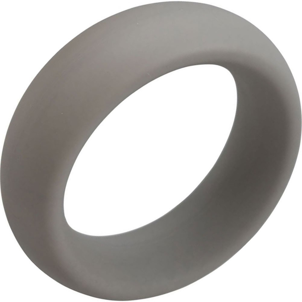 "Rascal Brawn Silicone Cock Ring Grey 2.5"" Diameter - View #2"