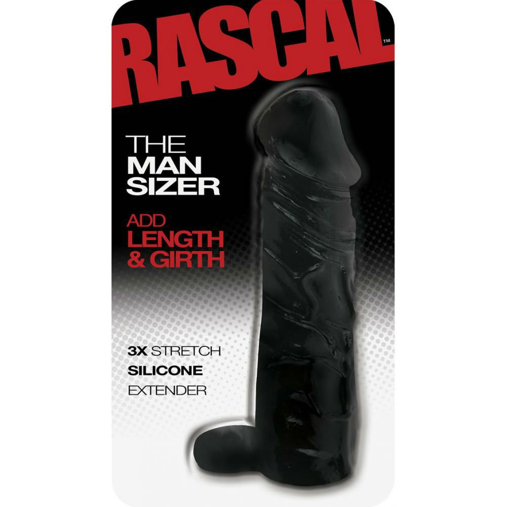 "Rascal the Man Sizer Silicone Extender Black 6.5"" - View #1"