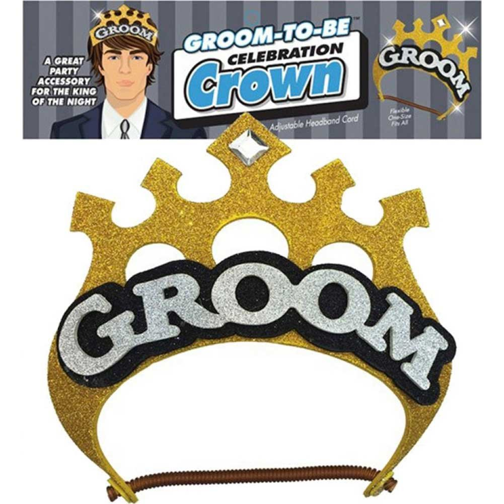 Little Genie Groom to Be Celebration Crown Gold - View #1