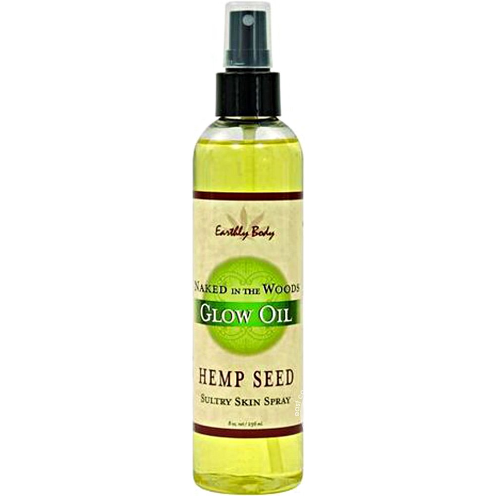 Earthly Body Glow Oil with Hemp Seed Naked in the Woods 8 Oz Spray - View #1