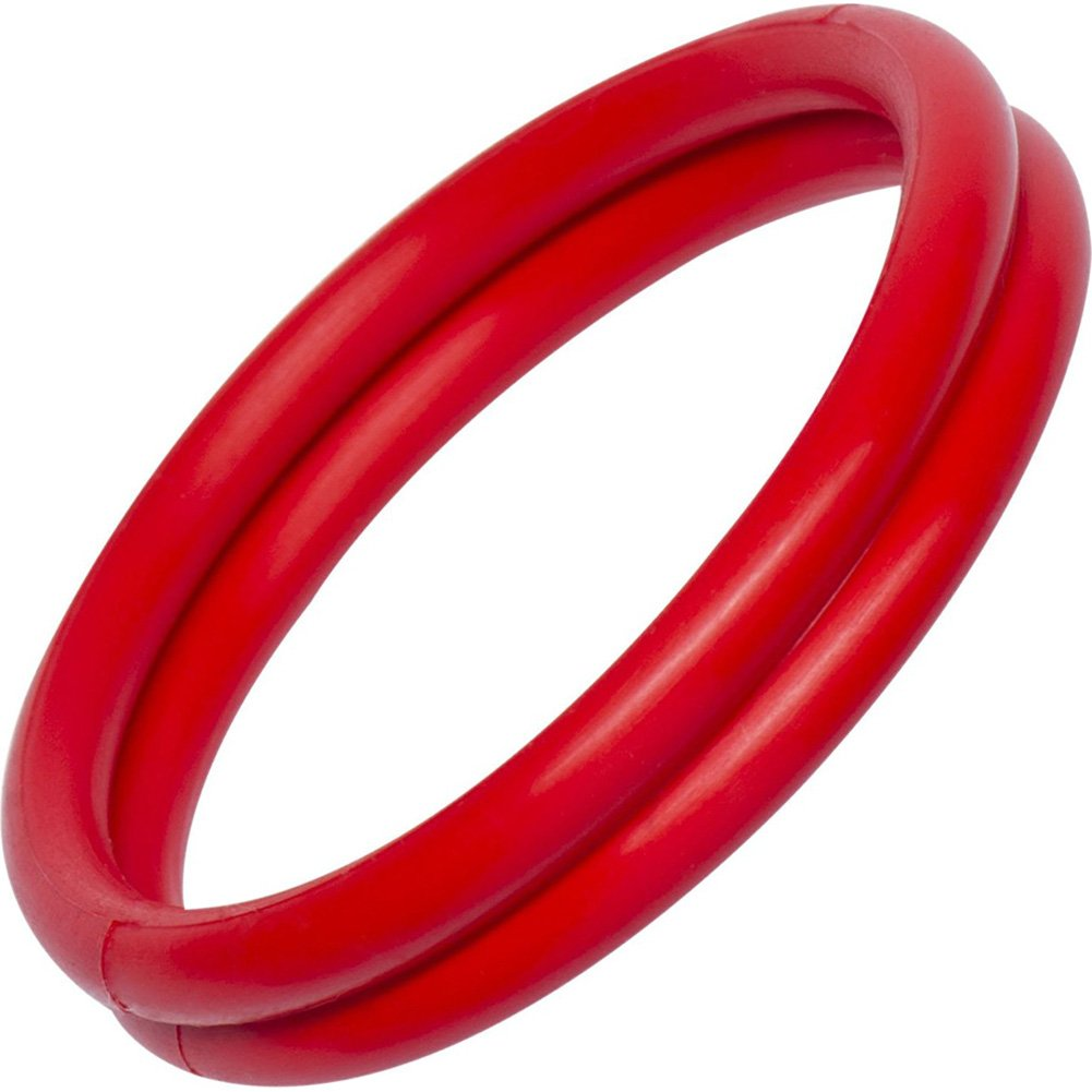 Rocks Off Rudy Rings Tear N Share Cock Rings Red - View #2