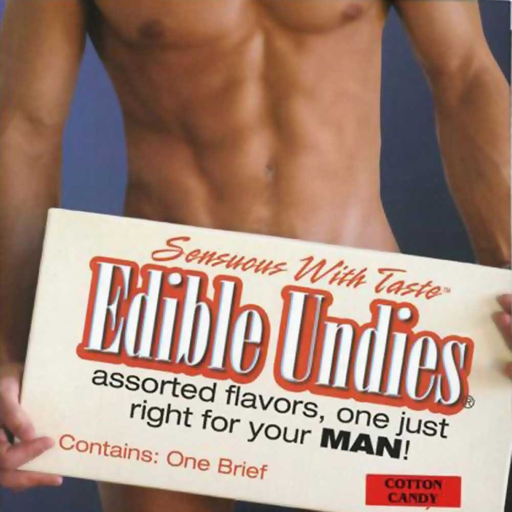 Kingman My Joy Sensuous With Taste Edible Undies Male One Size Fits Most Cotton Candy - View #1