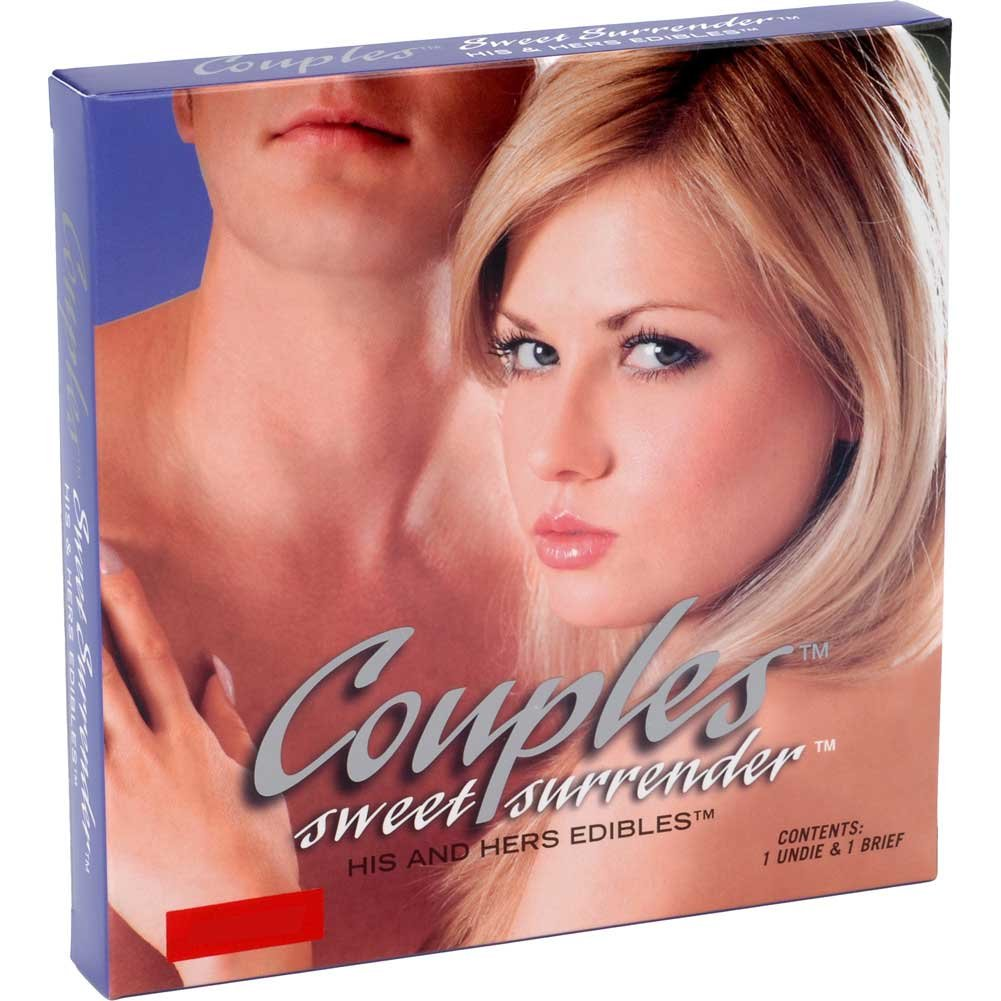 Couples Sweet Surrender His and Hers Edibles 2 Piece Set One Size Fits Most Vanilla Ice Cream - View #1