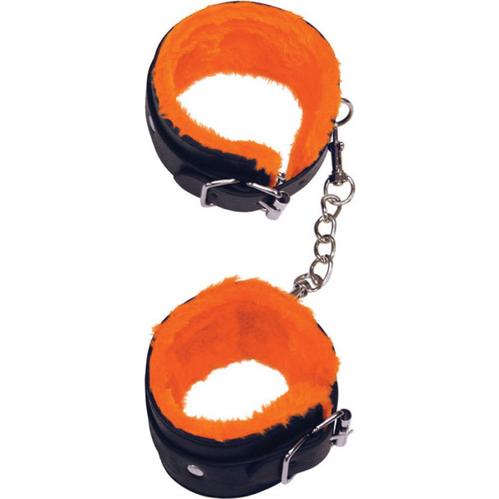 Icon Brands Orange Is the New Black Furry Love Cuffs Ankle Restraints - View #2