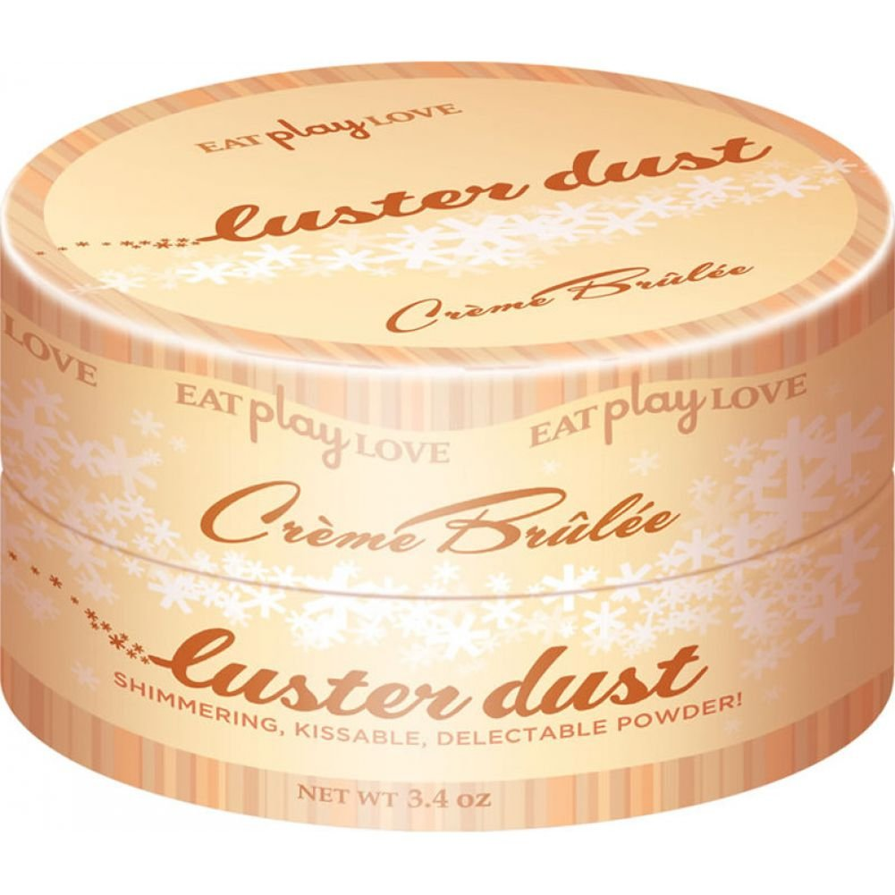Icon Brands Luster Dust Creme Brulee Flavored Body Powder 23k Gold Shimmer 3.4 Oz - View #1