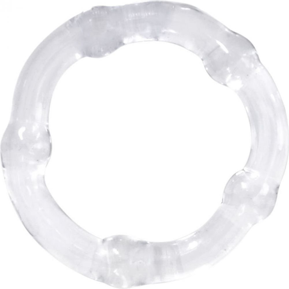 "Icon Brands Falcon Glass Cockring Clear 1.75"" - View #2"