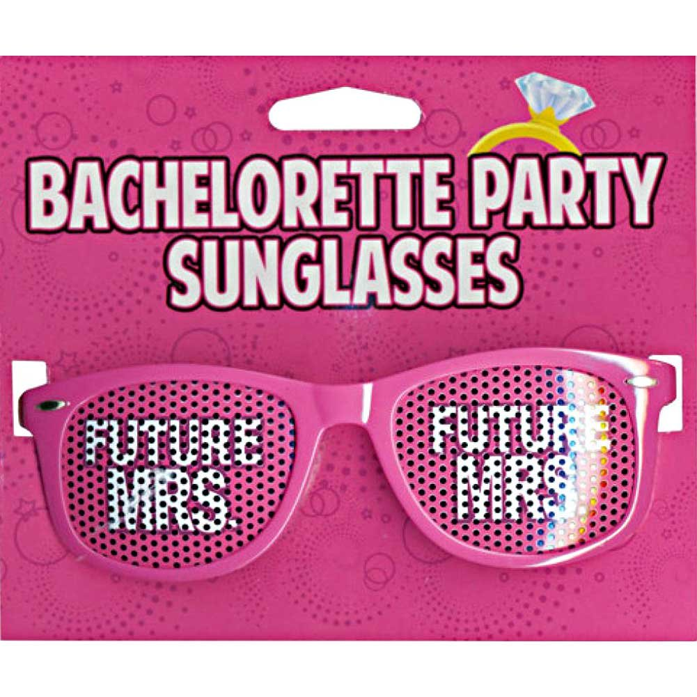 Kalan Bachelorette Party Sunglasses Future Mrs. Pink - View #1