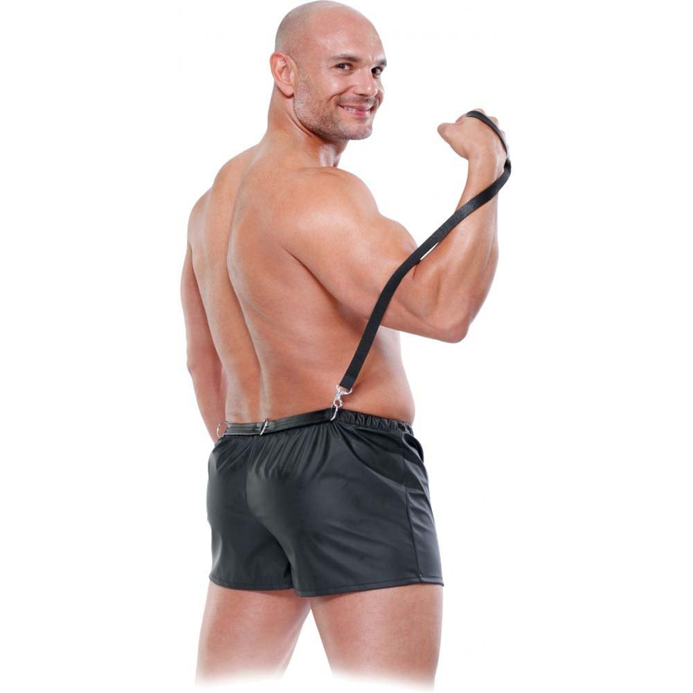 Pipedream Fetish Fantasy Obedience Boxer for Him 2XL/ 3XL Black - View #1