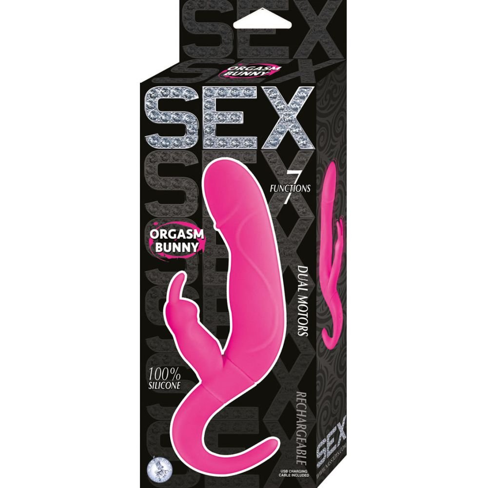 "Nasstoys Sex Orgasm Bunny Rechargeable Vibrator 9.25"" 23.5 Cm Hot Pink - View #1"