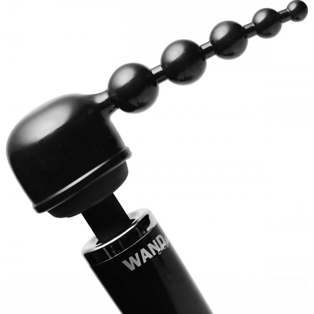 "XR Brands Wand Essentials Bubbling Bliss Beads Wand Attachment 5"" Black - View #1"