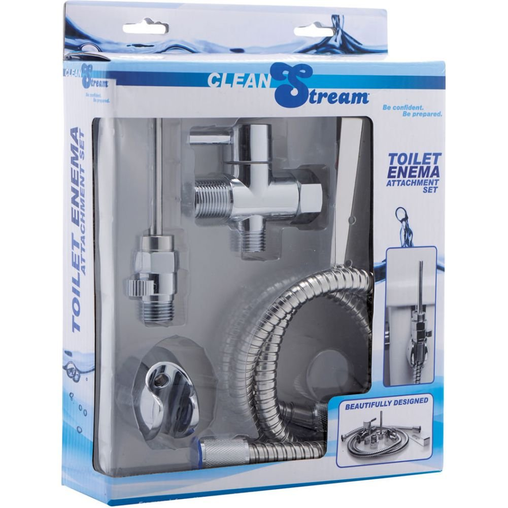 XR Brands Clean Stream Toilet Enema Attachment Set Silver - View #4