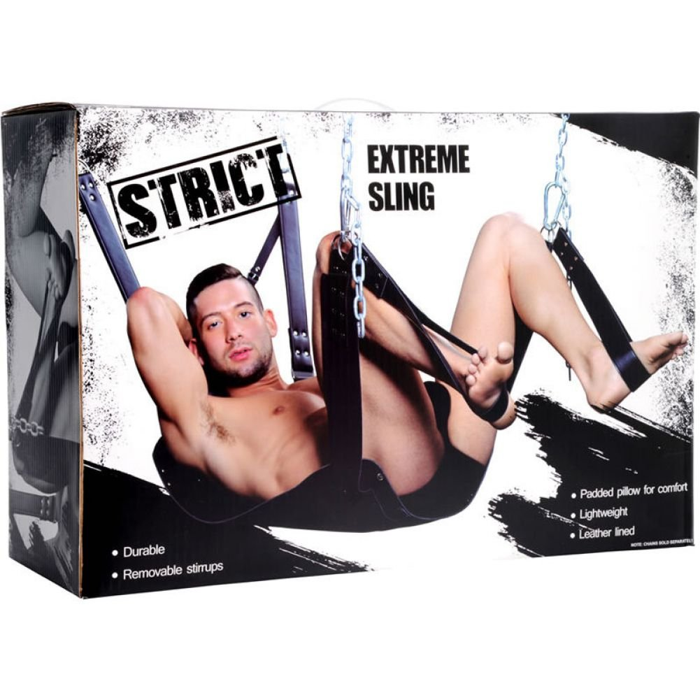 XR Brands Strict Extreme Sex Sling Black - View #1