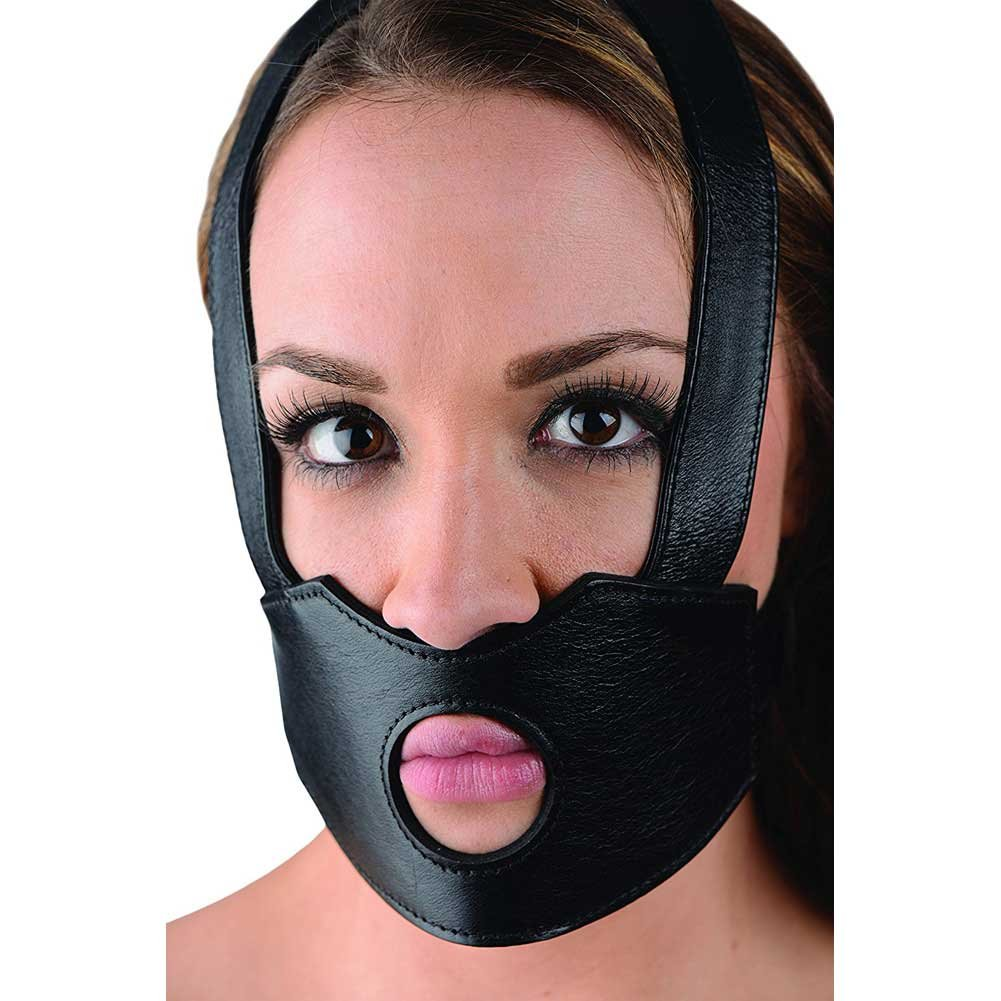 XR Brands Master Series Face Fuk II Dildo Face Harness Black - View #3