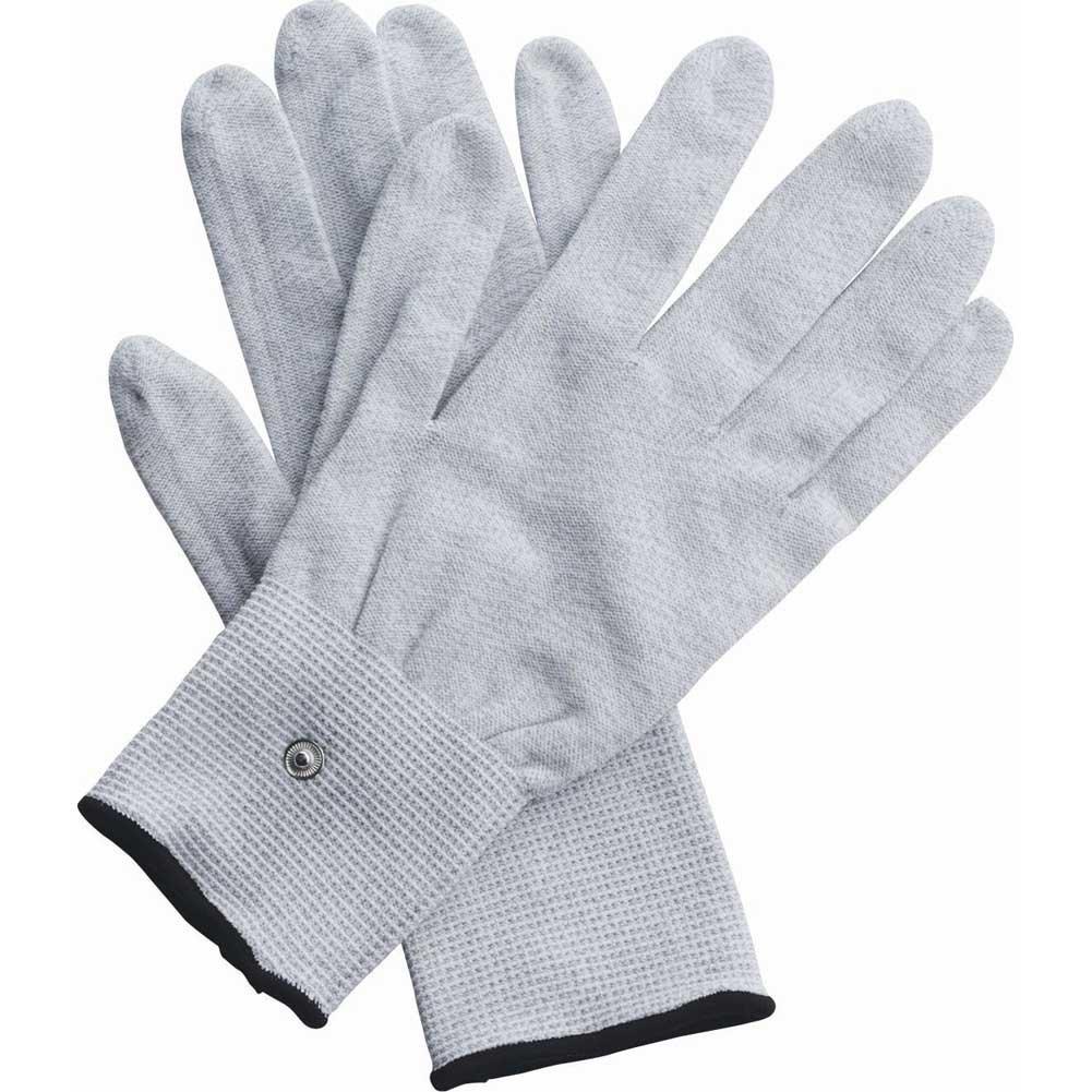 XR Brands Zeus Electrosex Awaken Uni Polar E Stim Gloves One Size Fits Most White - View #3