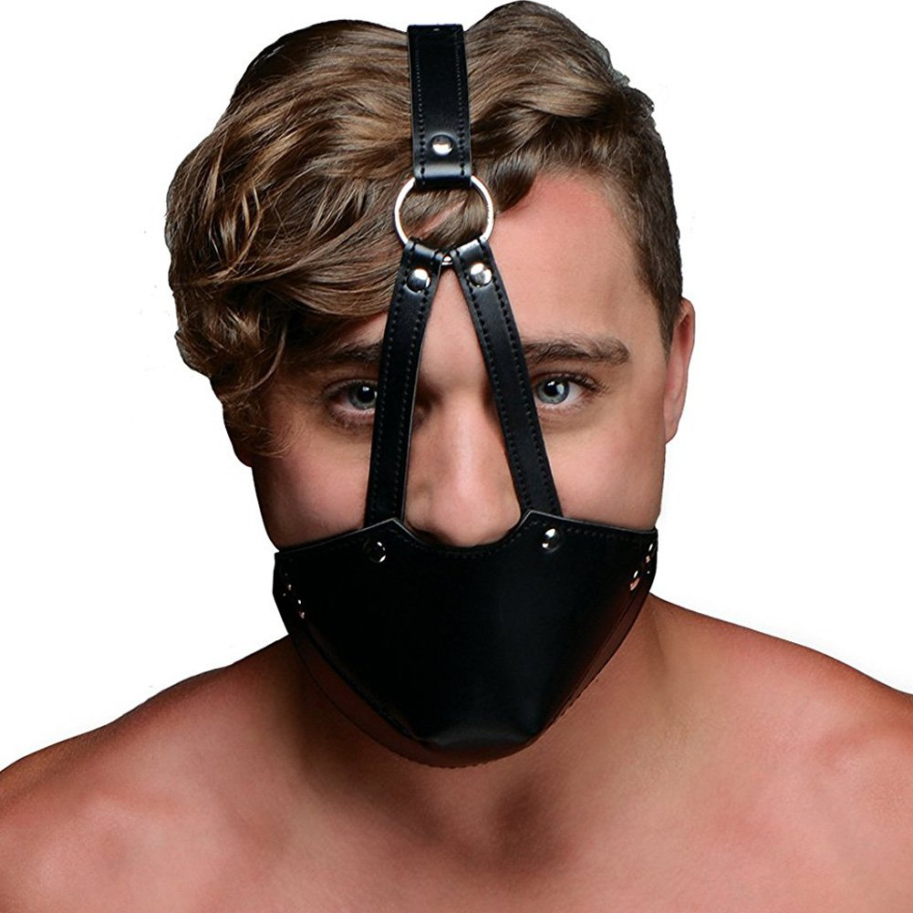 XR Brands Strict Mouth Harness with Ball Gag Black - View #2