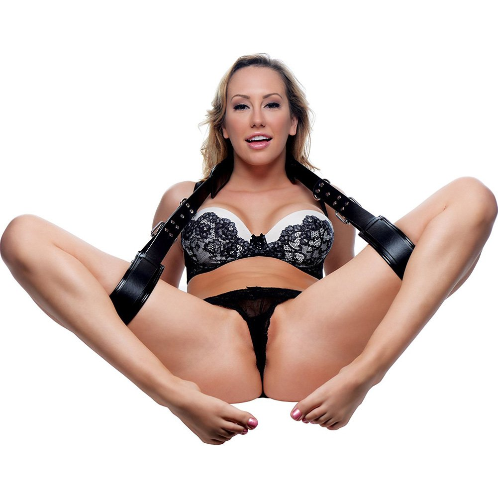 STRICT by XR Brands Padded Thigh Sling Position Aid Black - View #3