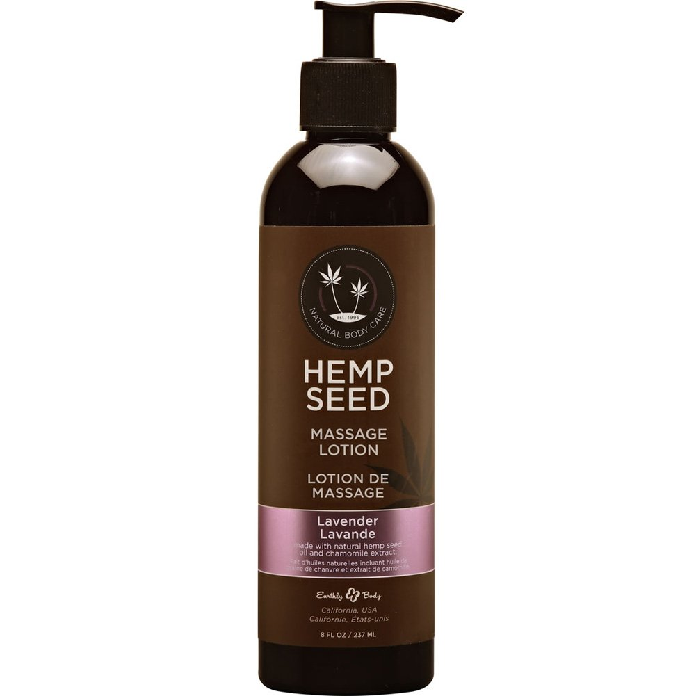 Earthly Body Hemp Seed Massage Lotion 8 Fl. Oz 237 mL Lavender - View #1