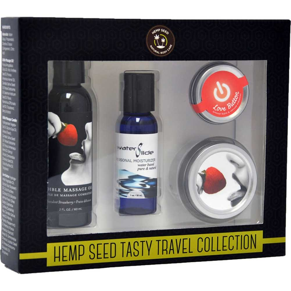 Earthly Body Hemp Seed Tasty Travel Collection Strawberry - View #1