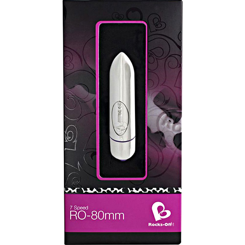 "Rocks Off 80 Mm Bullet Vibrator 3.25"" 8 Cm Silver - View #1"