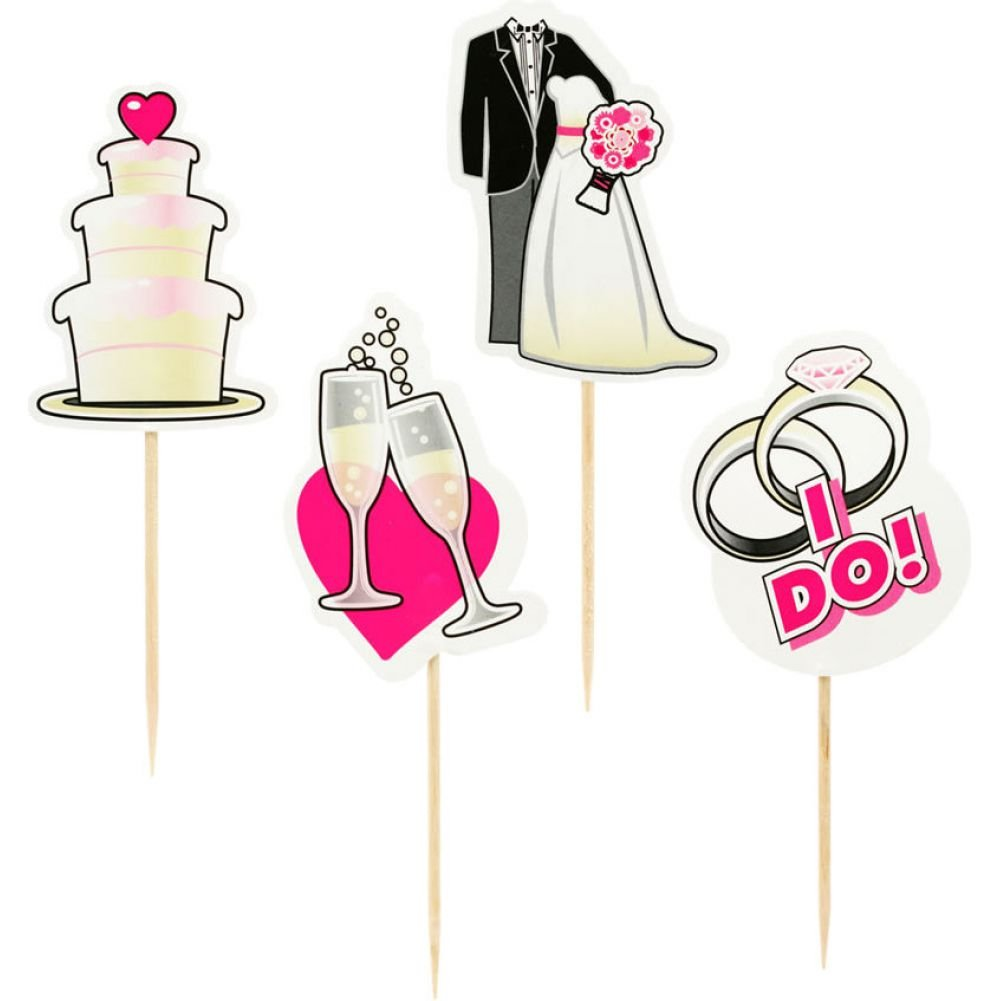 Little Genie Party Picks Bridal Toothpick Toppers 24 Count - View #2