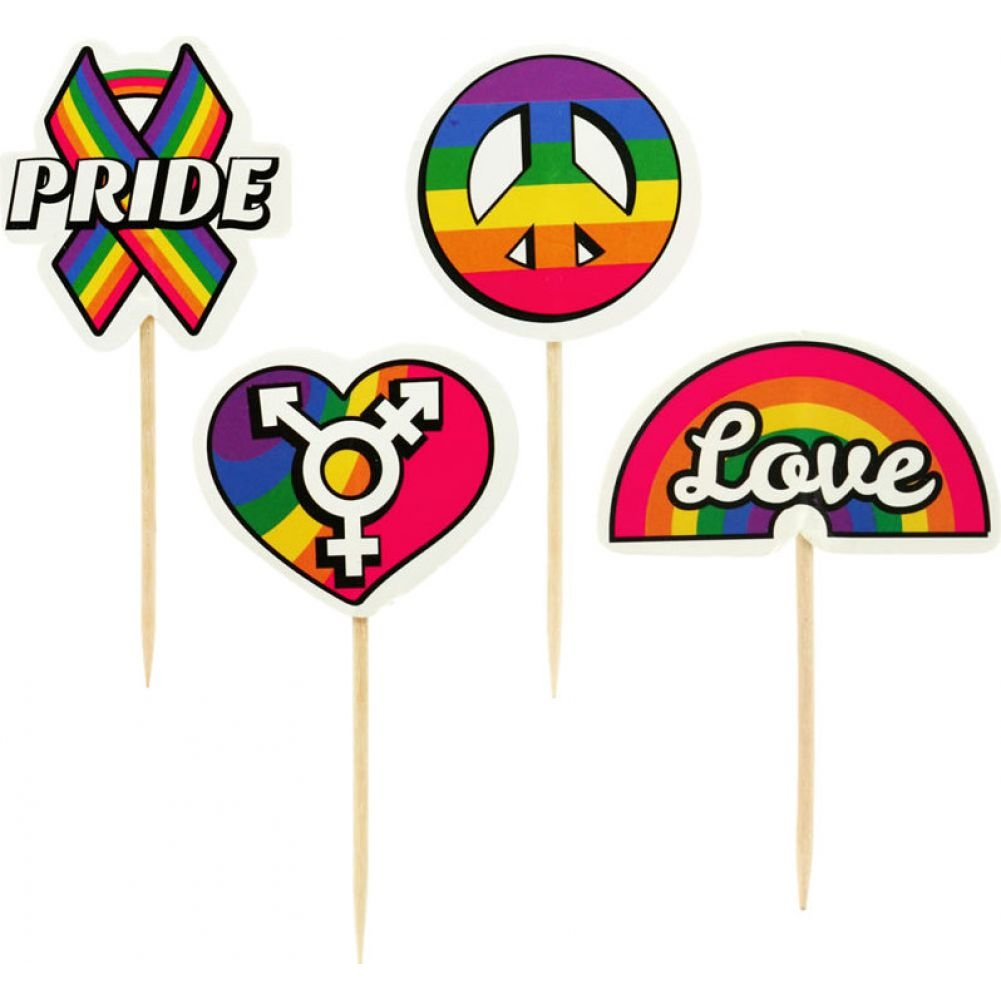Little Genie Party Picks Pride Toothpick Toppers 24 Count - View #2
