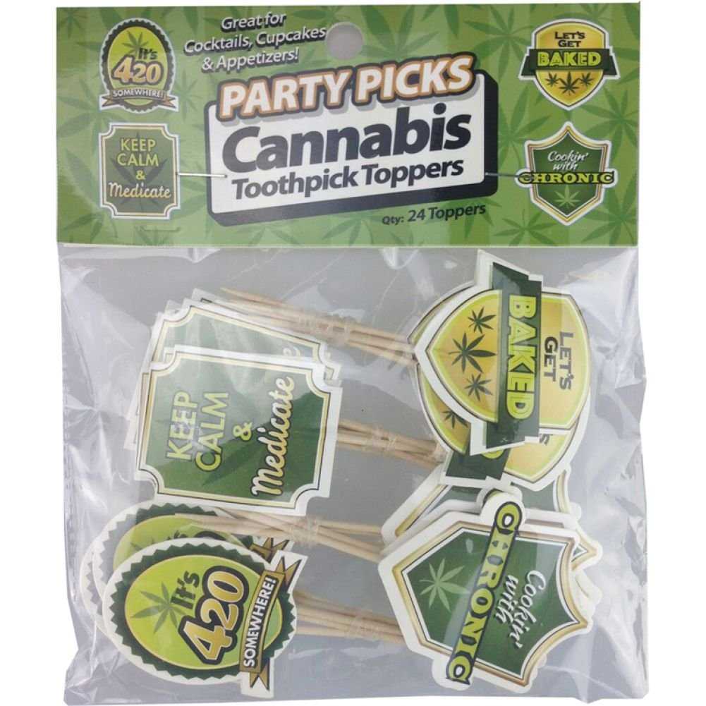 Little Genie Party Picks Cannabis Toothpick Toppers 24 Count - View #1