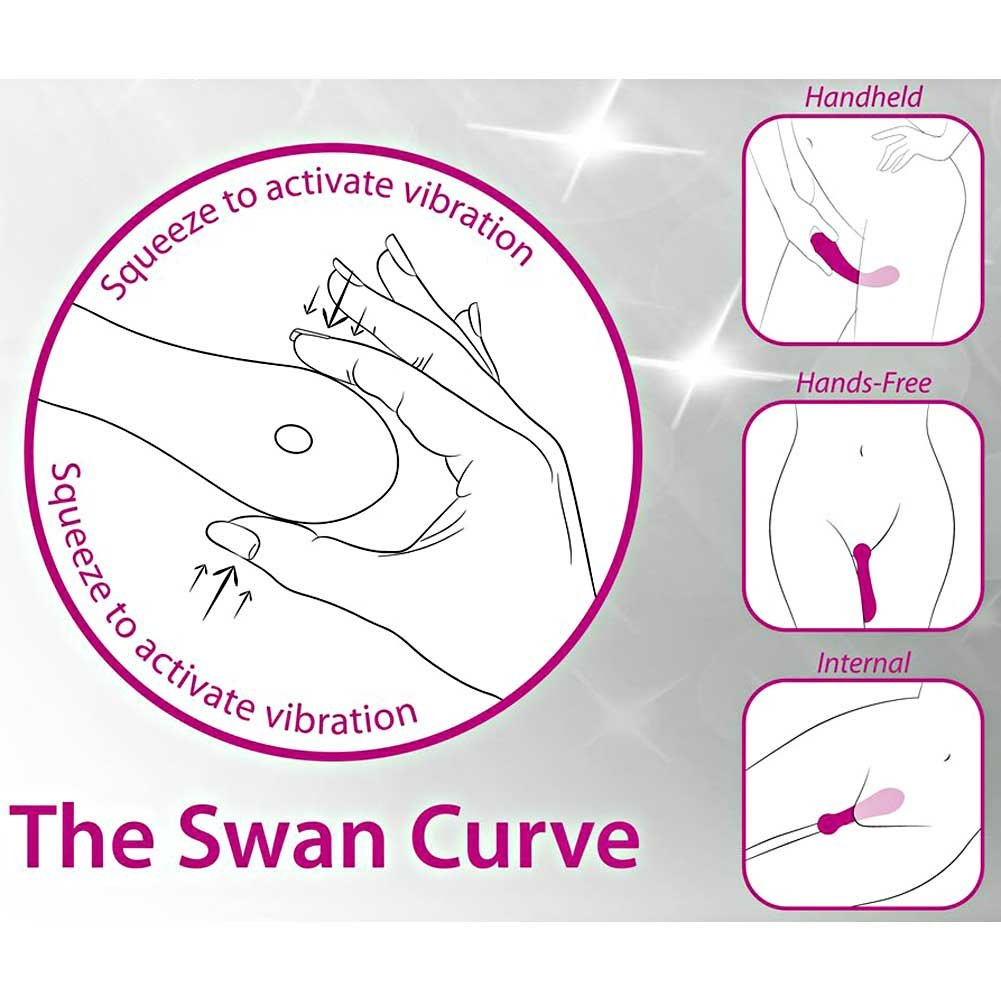 Swan the Swan Curve Squeeze Control Silicone Rechargeable Vibe Waterproof Teal - View #1