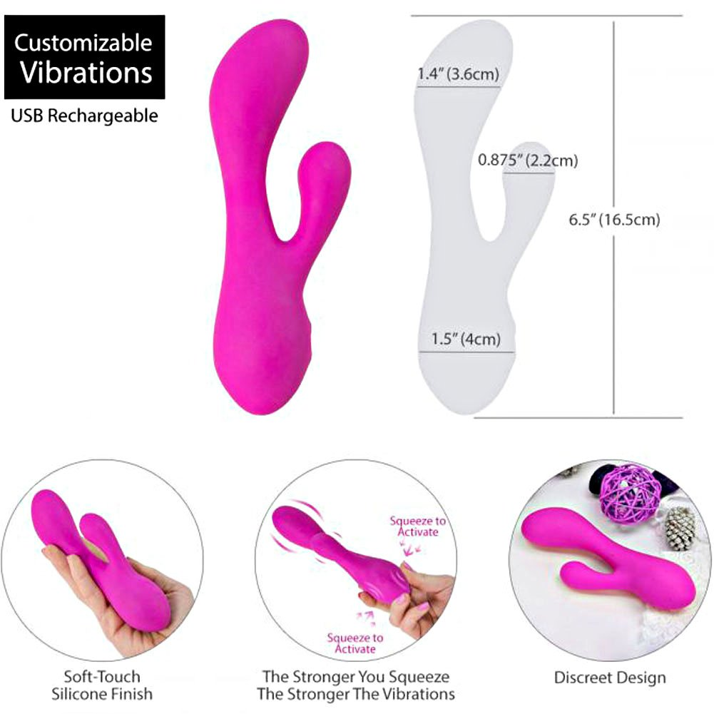 BMS Factory Swan Hug Squeeze Control Intimate Vibrator Hot Pink - View #1