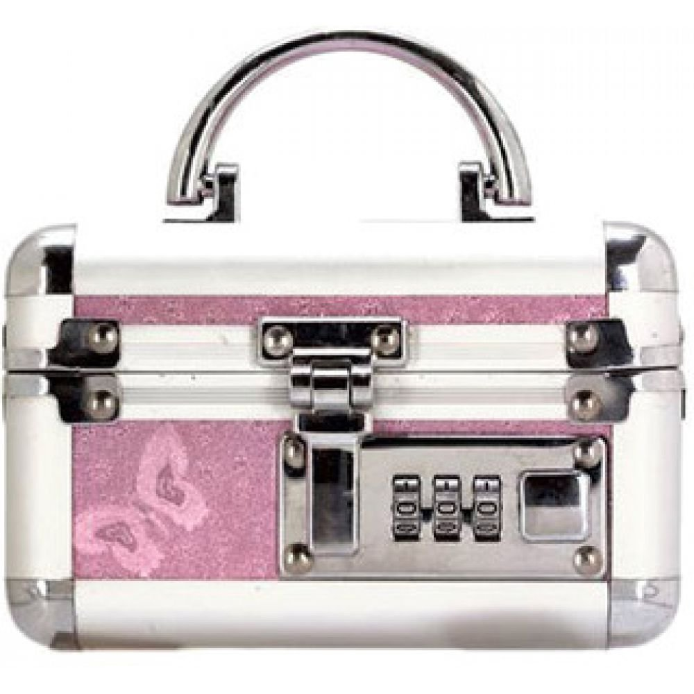 "BMS Factory Mini Personal Bullet Lockbox 5"" Silver/Pink - View #1"