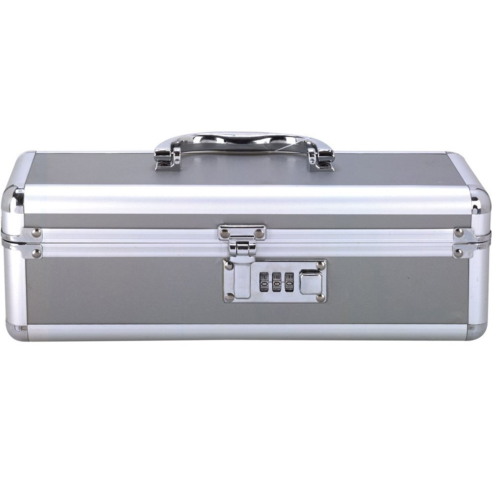 "BMS Factory Lockable Vibrator Case 12"" Silver - View #2"