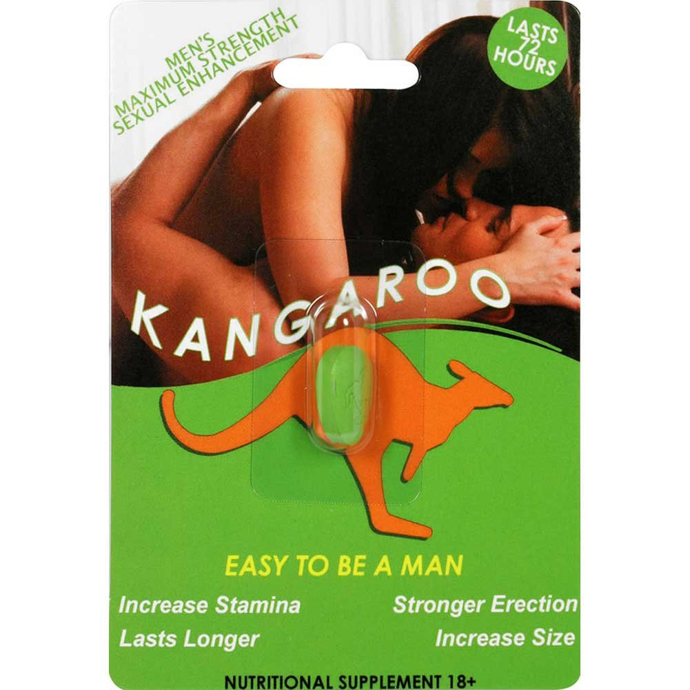 Kangaroo for Him Sexual Enhancement Green 1 Pill Count - View #1
