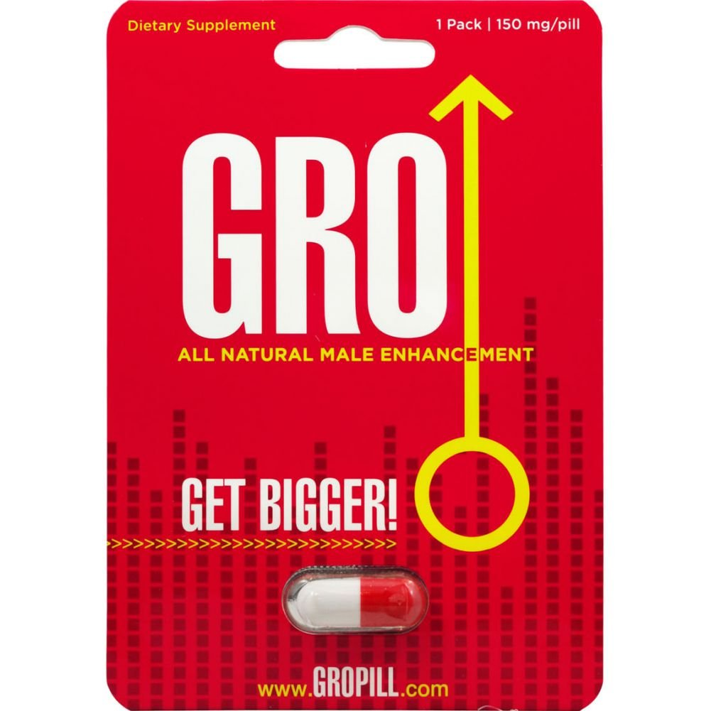 Gro All Natural Male Enhancement Pill 24 Single Packs Per Counter Display - View #1