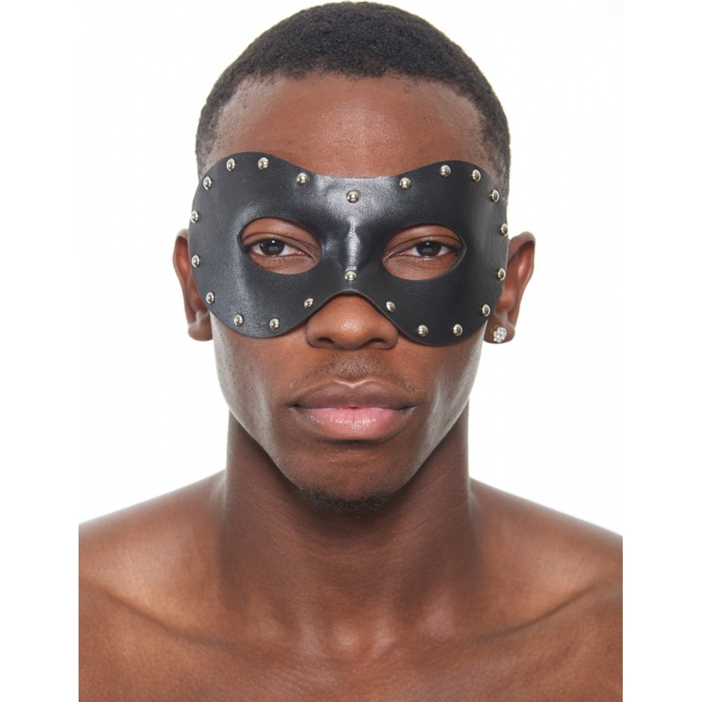 Kayso Studded Venetian Mask Black - View #1